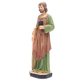 Statua San Giuseppe 30 cm resina colorata s2