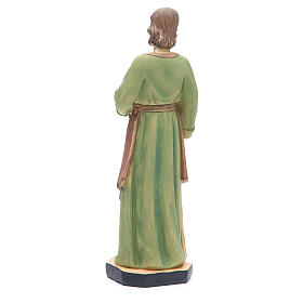 Statua San Giuseppe 30 cm resina colorata s3