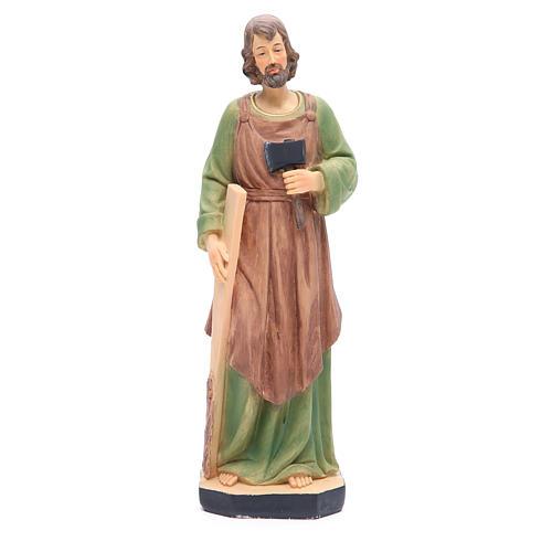 Statua San Giuseppe 30 cm resina colorata 1