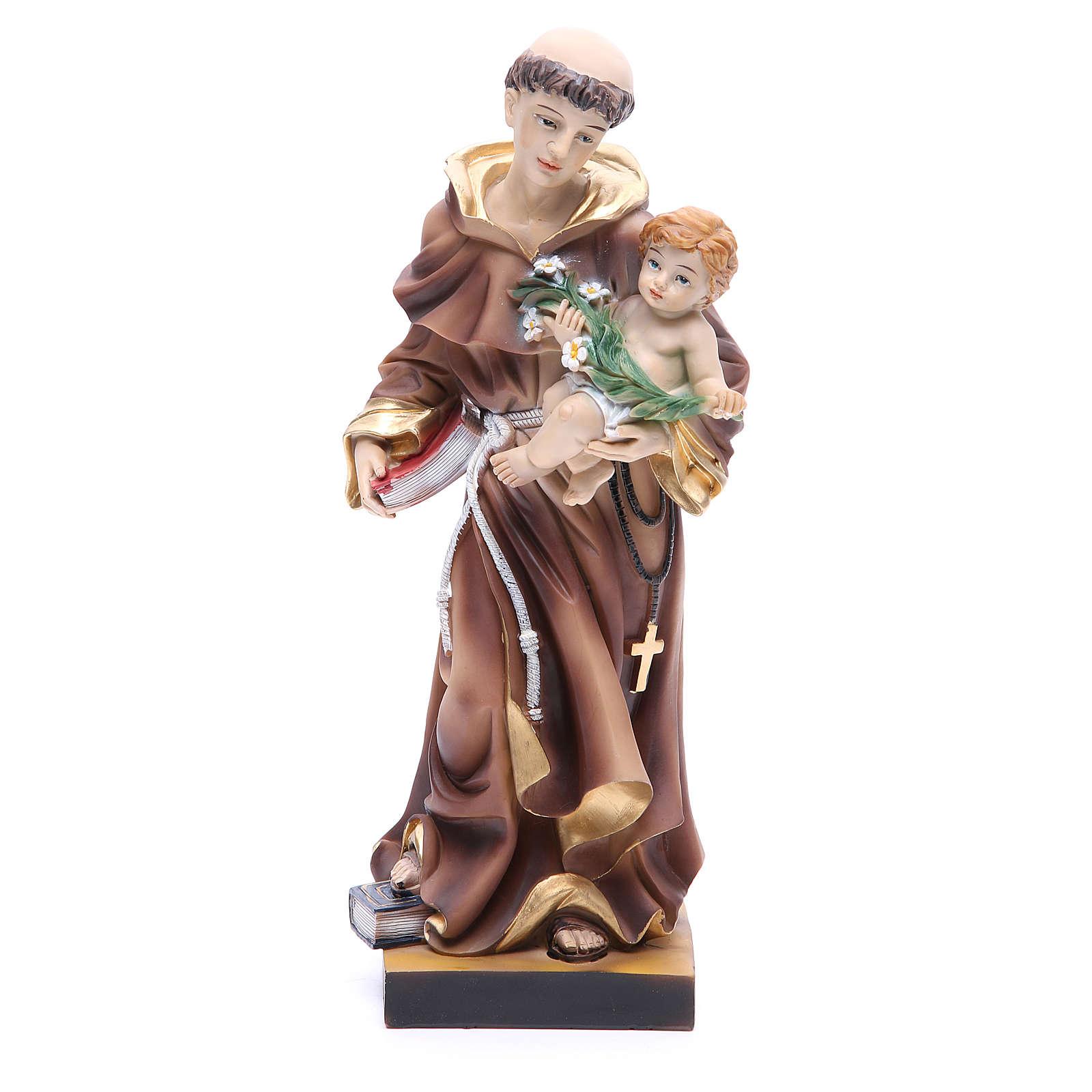 Estatua de San Antonio de Padua 31 cm resina 4