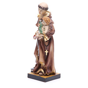Estatua de San Antonio de Padua 31 cm resina s2