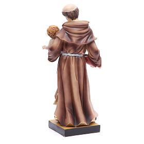 Estatua de San Antonio de Padua 31 cm resina s3