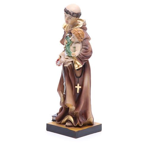 Estatua de San Antonio de Padua 31 cm resina 2