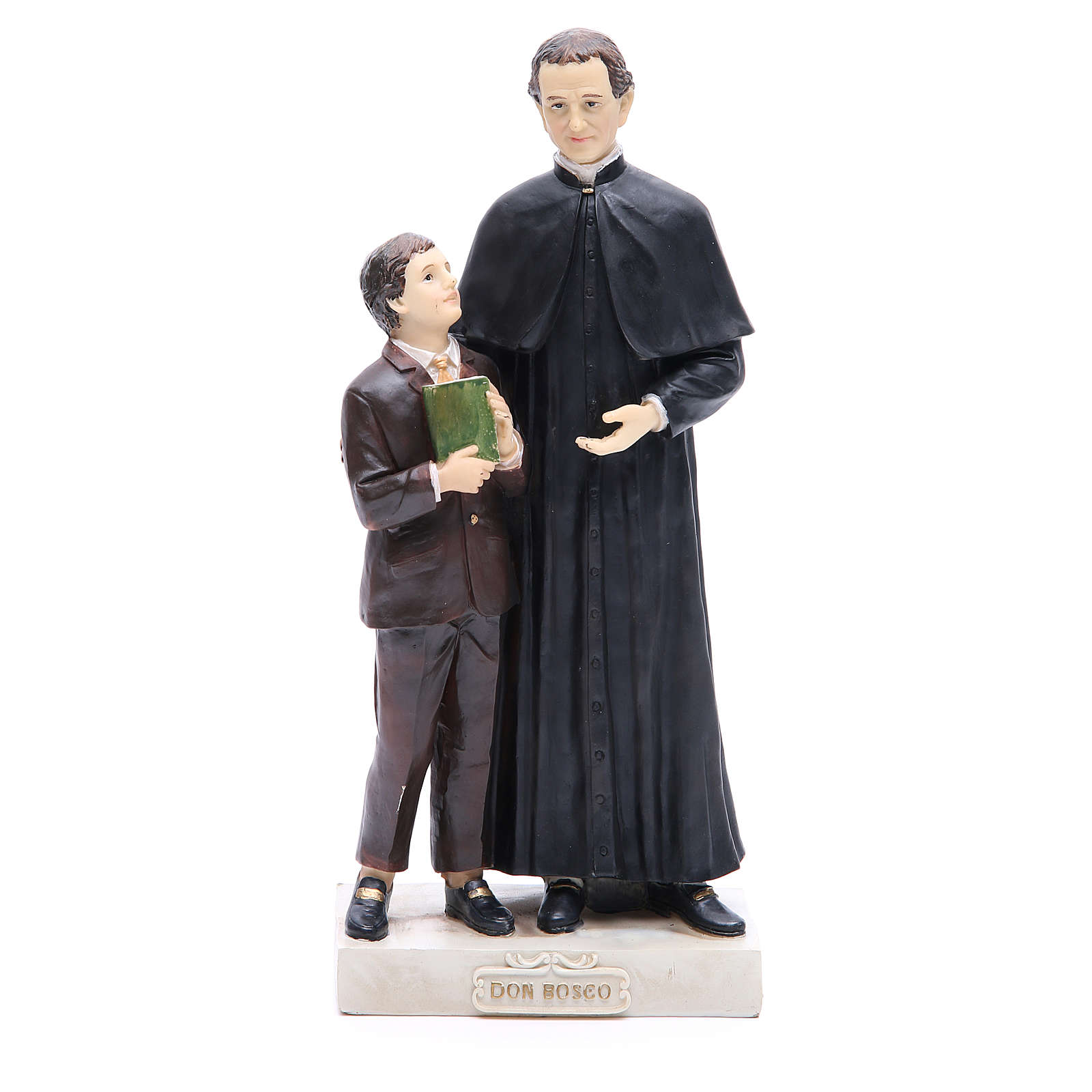 Statue in resin Saint John Bosco and Saint Dominic Savio 30 cm 4