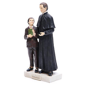Estatua Don Bosco y San Domenico Savio 30 cm resina s2