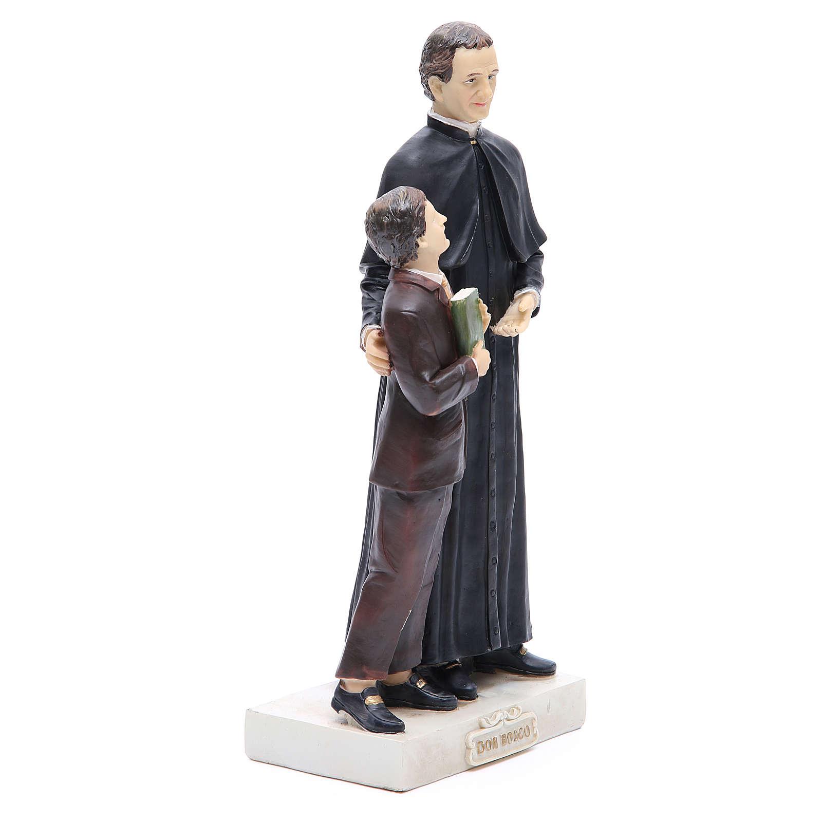 Statue Don Bosco et D. Savio 30 cm résine 4