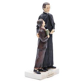 Statue Don Bosco et D. Savio 30 cm résine s4