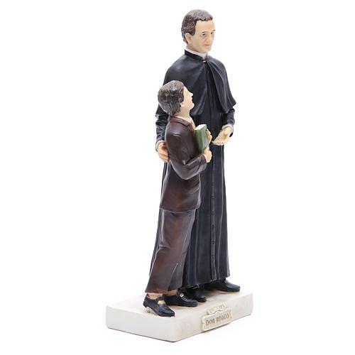 Statua Don Bosco e D. Savio 30 cm resina 4