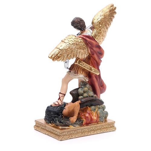Statuette Saint Michel 22 cm résine colorée 3
