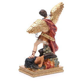 Statua San Michele 22 cm resina colorata s3