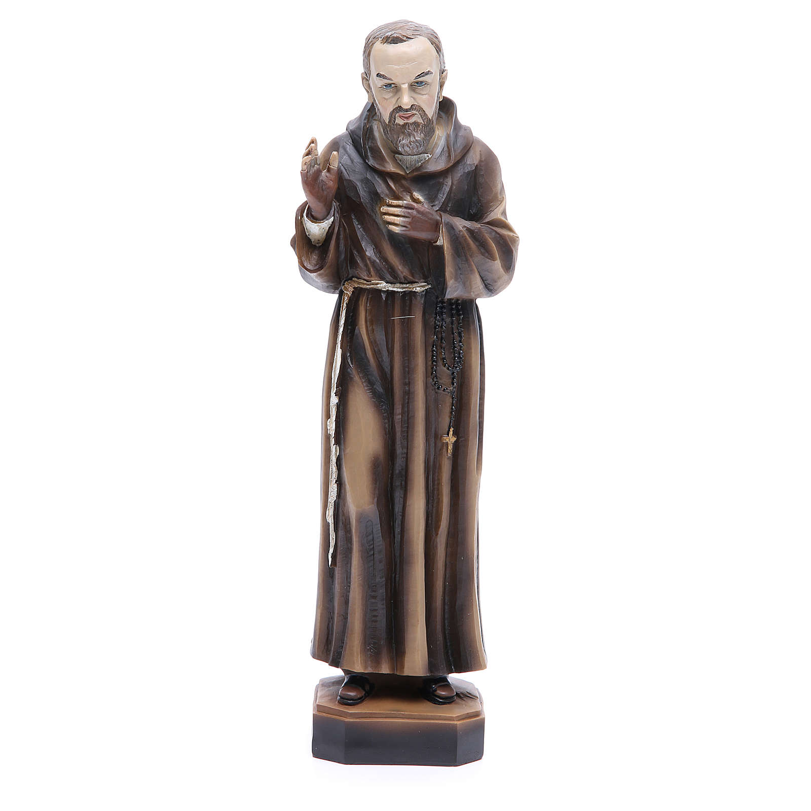 Statua P. Pio da Pietrelcina 30 cm resina 4