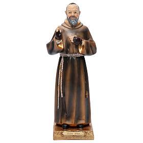 Padre Pío de Pietrelcina 32,5 cm resina pintada s1