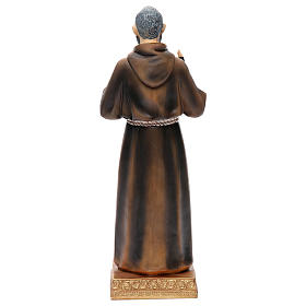 Statue Padre Pio 32,5 cm résine colorée s4