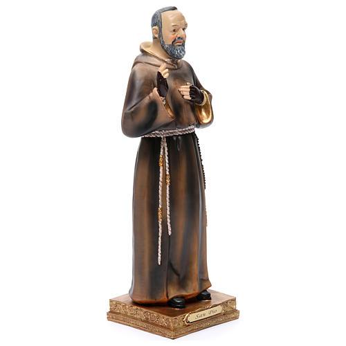 Statue Padre Pio 32,5 cm résine colorée 3