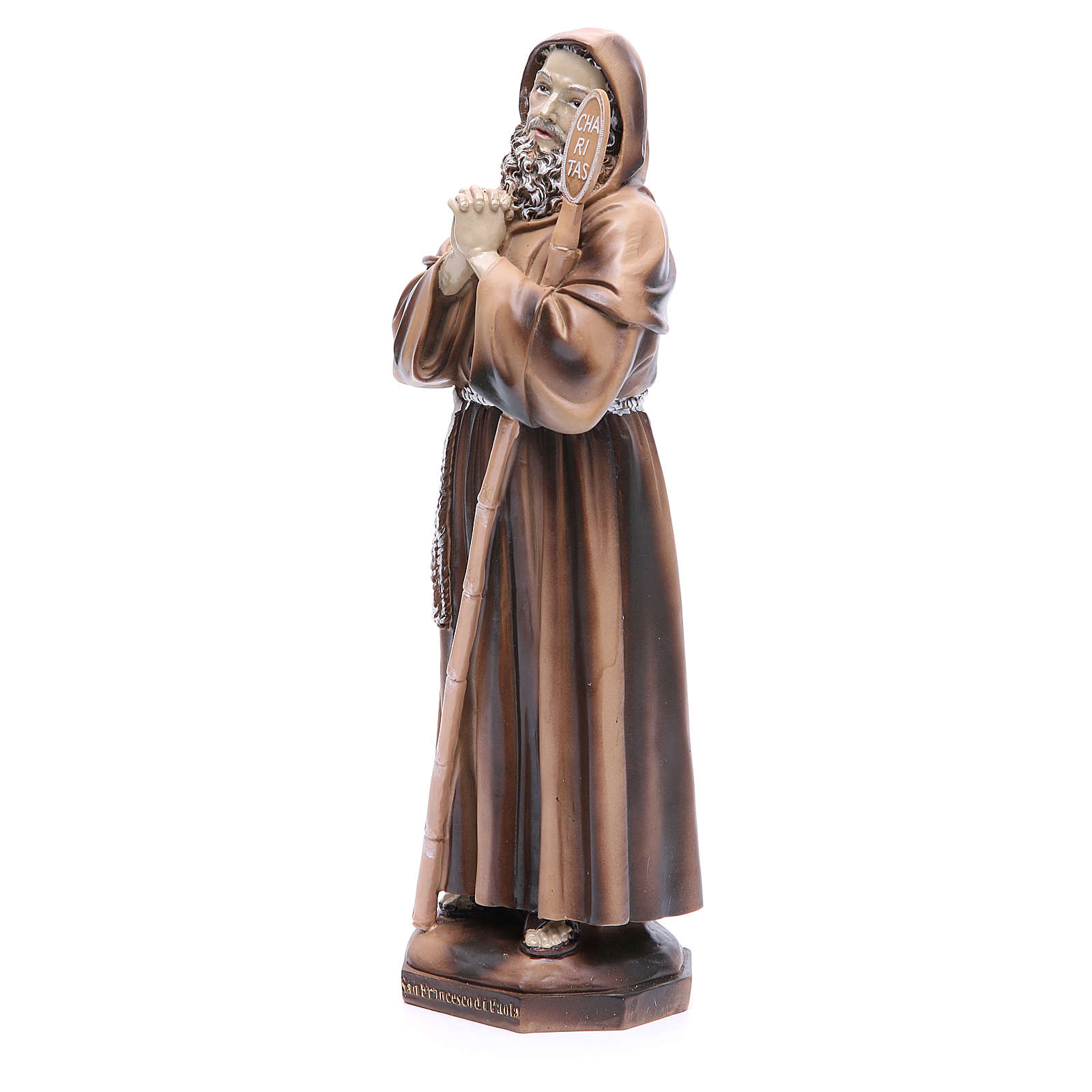 Saint Francis of Paola 31 cm in resin 4