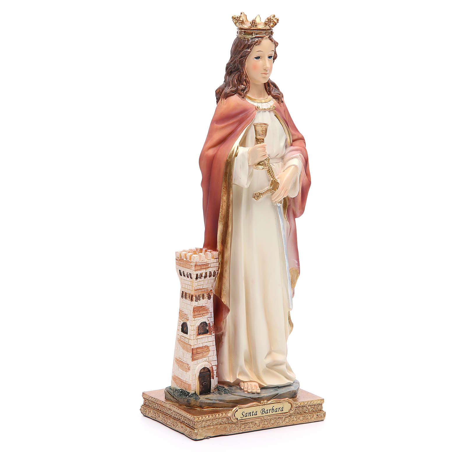 Estatua Santa Bárbara 31,5 cm resina 4