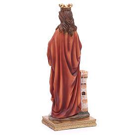 Estatua Santa Bárbara 31,5 cm resina s3