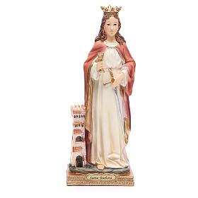 Statue in resina e PVC: Statua Santa Barbara 31,5 cm resina