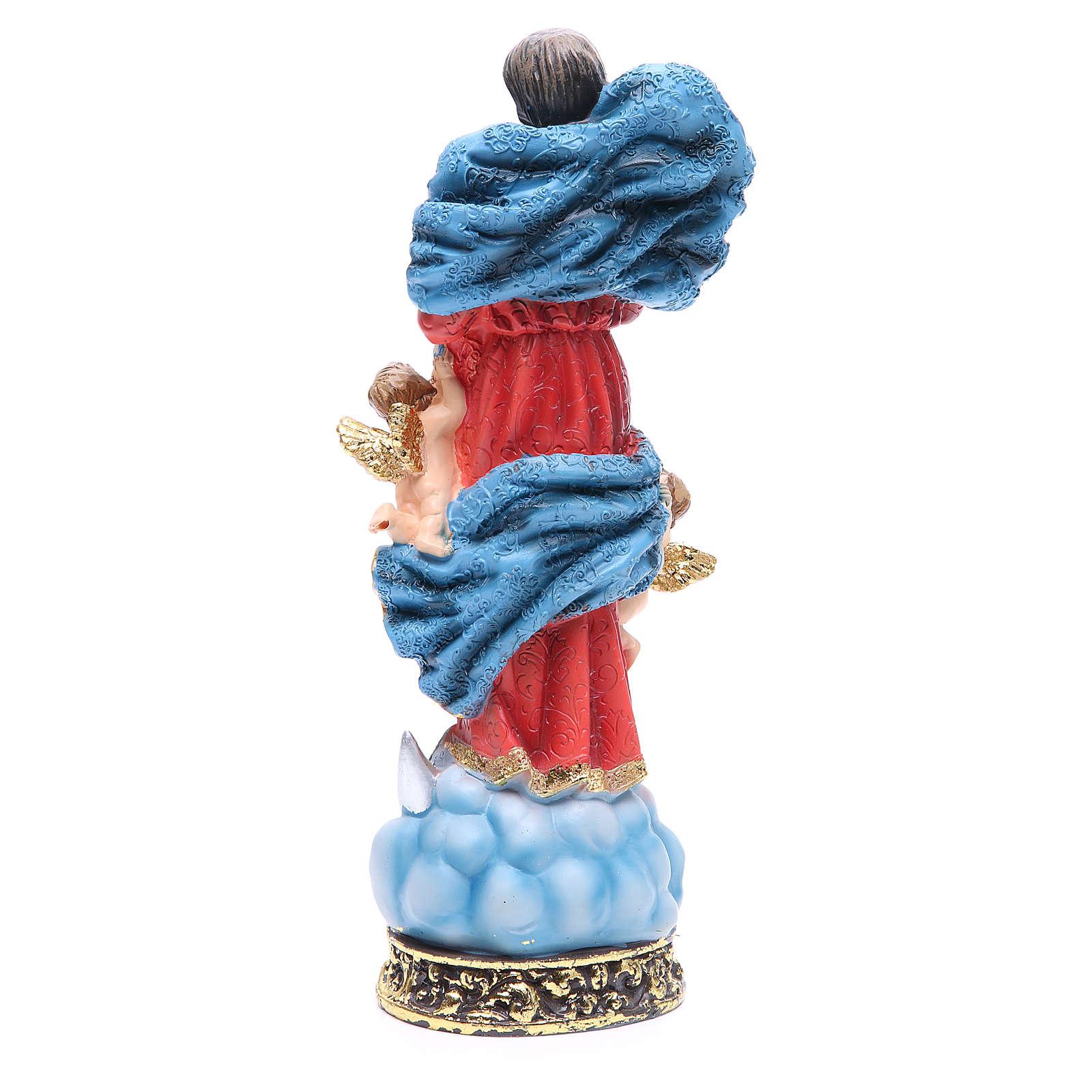 Statua Madonna scioglie nodi 32,5 cm resina 4