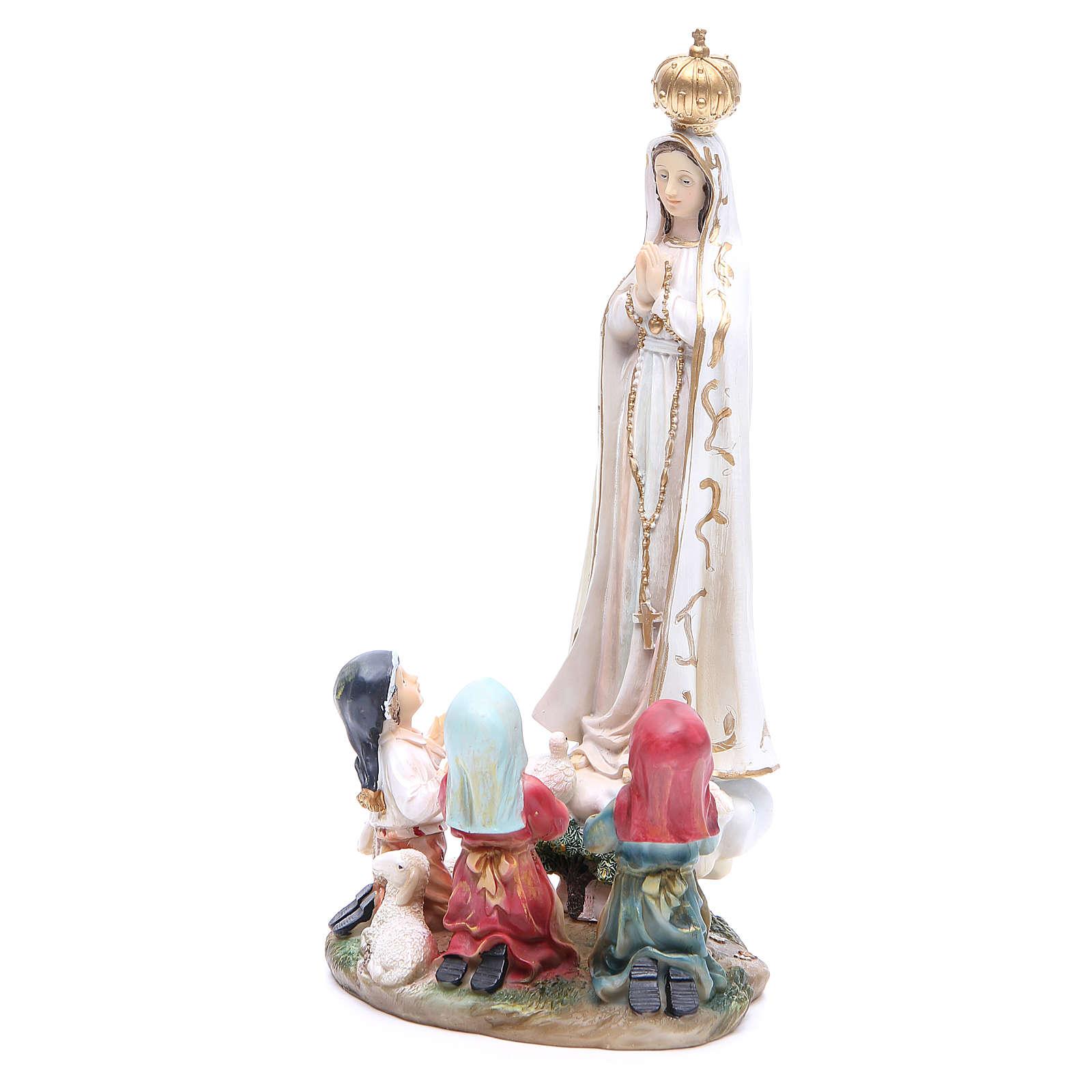 Statua Madonna Fatima 30 cm resina 4