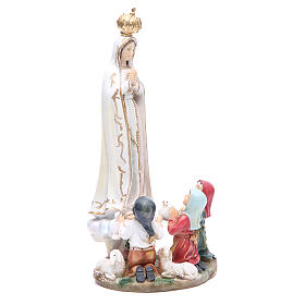 Statua Madonna Fatima 30 cm resina s4