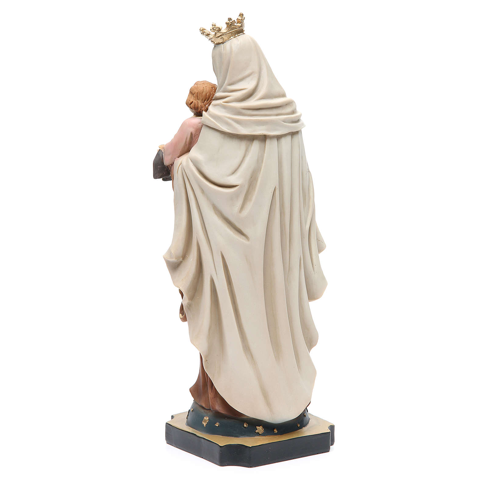 Our Lady of Mount Carmel statue in resin 32 cm 4
