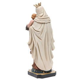 Estatua Virgen del Carmen 32 cm resina s3