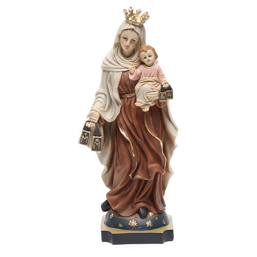 Estatua Virgen del Carmen 32 cm resina 1