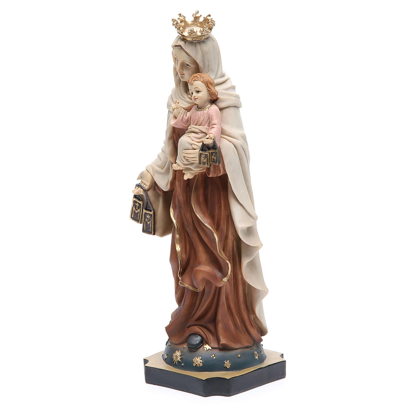 Statue Notre-Dame Mont-Carmel 32 cm résine 4