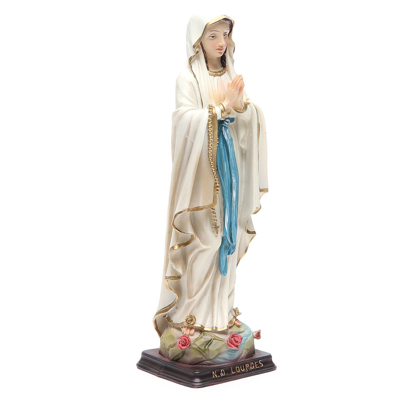Statua Madonna di Lourdes 24,5 cm resina 4