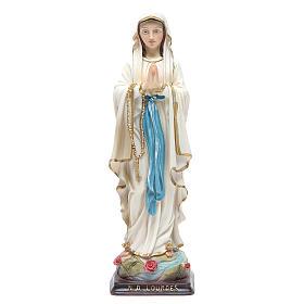 Statua Madonna di Lourdes 24,5 cm resina s1