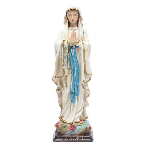 Statua Madonna di Lourdes 24,5 cm resina 1