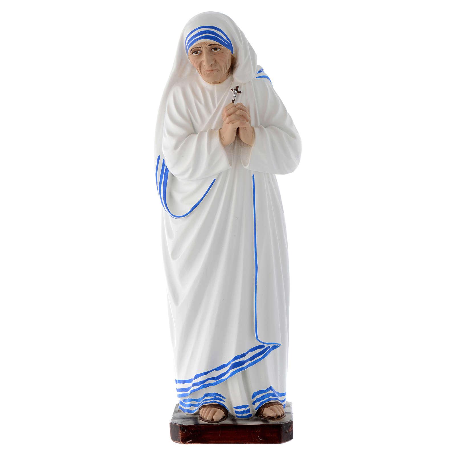 Estatua Santa Madre Teresa de Calcuta 30 cm fibra de vidrio 4