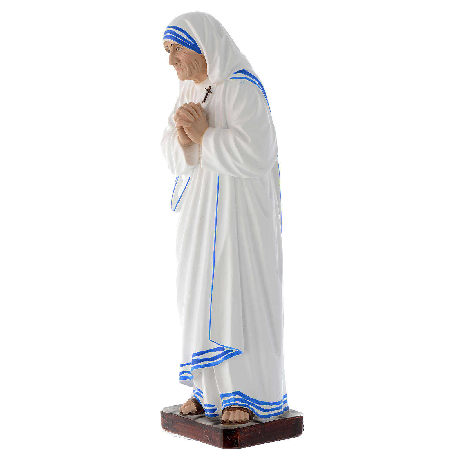 Statue Sainte Mère Teresa de Calcutta 30 cm fibre de verre 4