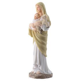 Vergine con bambino 20 cm in resina s2