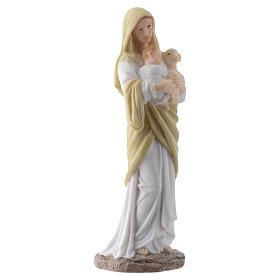 Vergine con bambino 20 cm in resina s3