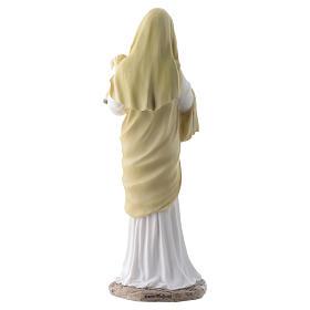 Vergine con bambino 20 cm in resina s4