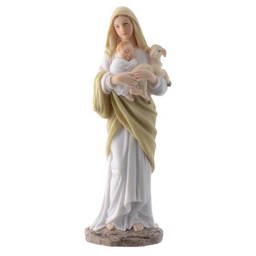 Vergine con bambino 20 cm in resina 1
