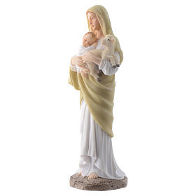 Our Lady with Baby Jesus 20 cm in resin s2