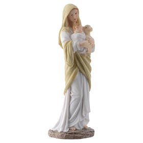 Our Lady with Baby Jesus 20 cm in resin s3