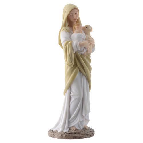 Our Lady with Baby Jesus 20 cm in resin 3
