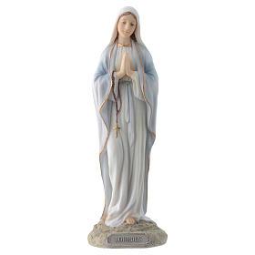 Vergine di Lourdes 20 cm resina s1