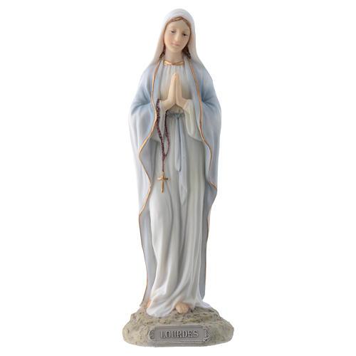 Vergine di Lourdes 20 cm resina 1