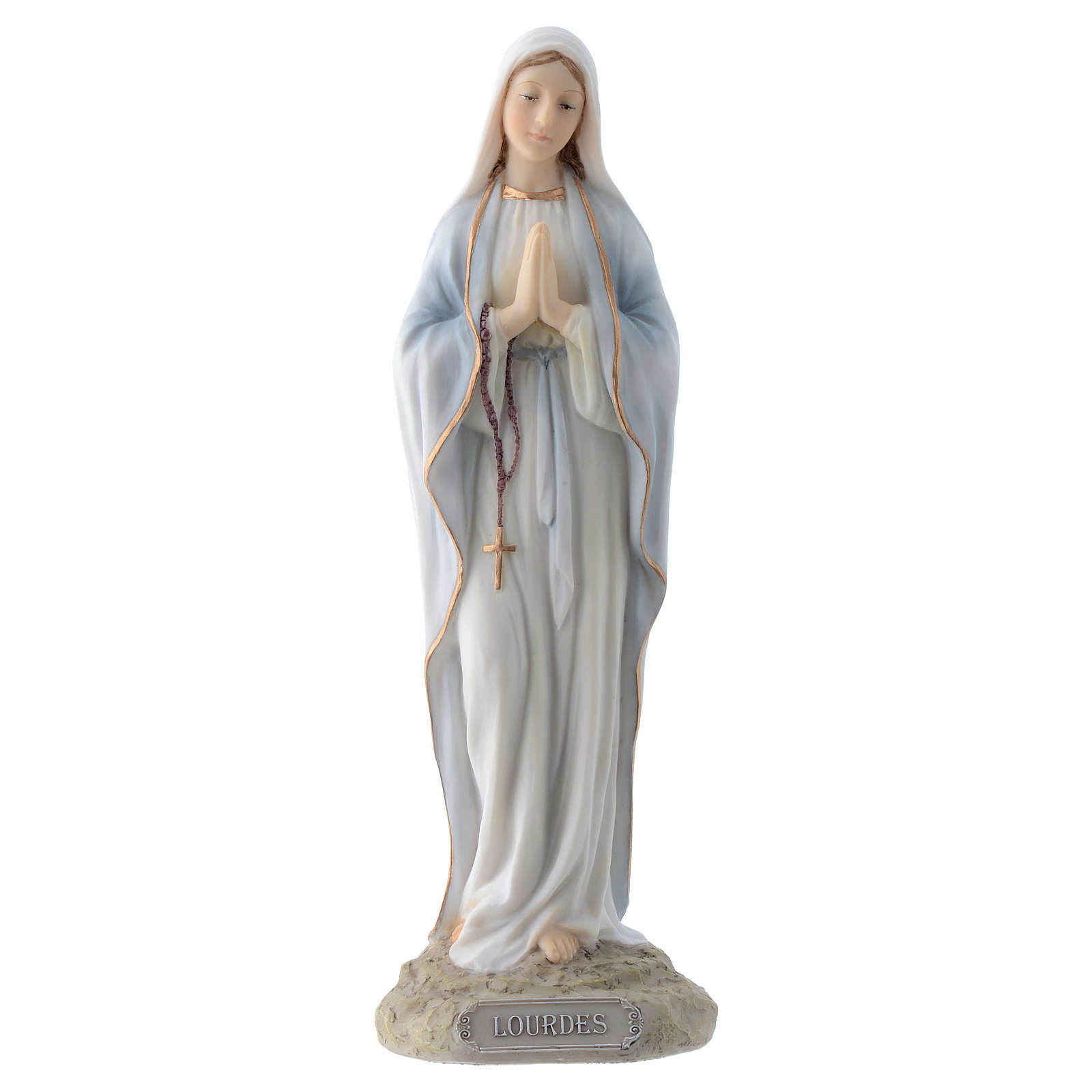 Our Lady of Lourdes 20 cm in resin 4