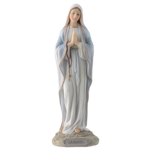 Our Lady of Lourdes 20 cm in resin 1