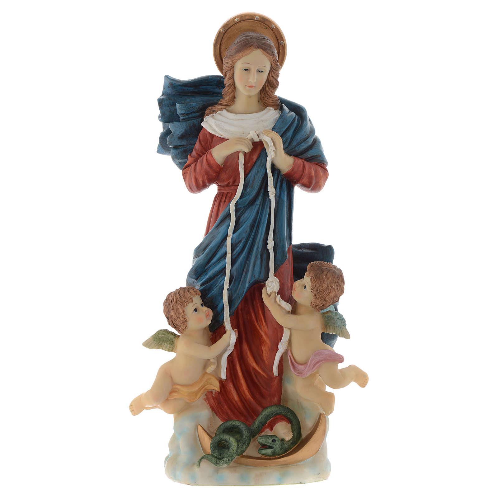 Virgen Desatanudos imagen 60 cm resina pintada 4