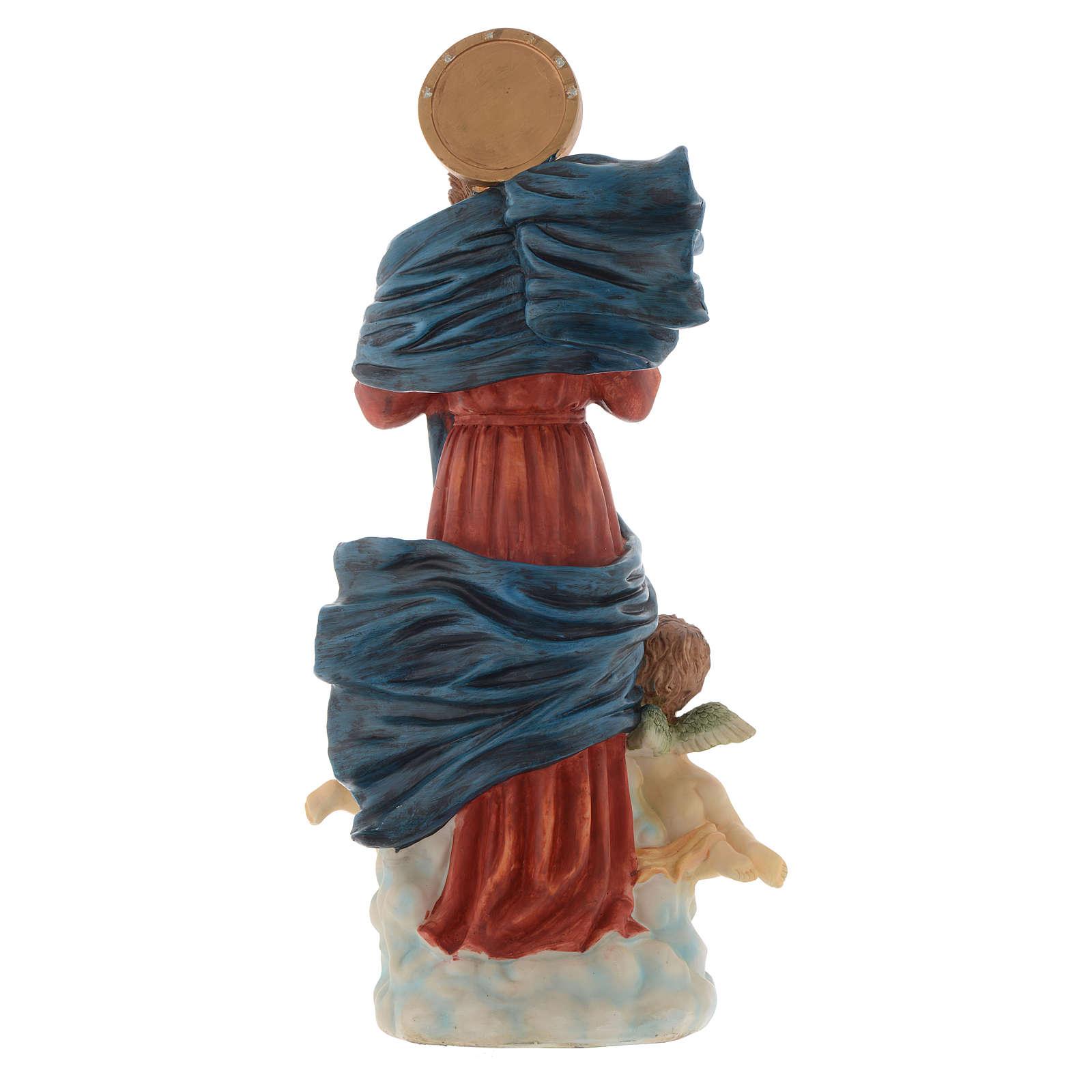 Statue Notre-Dame qui défait les noeuds 60 cm résine peinte 4
