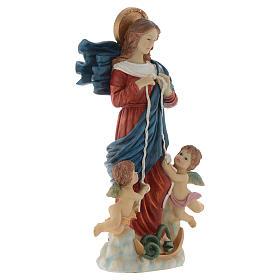 Statue Notre-Dame qui défait les noeuds 60 cm résine peinte s3
