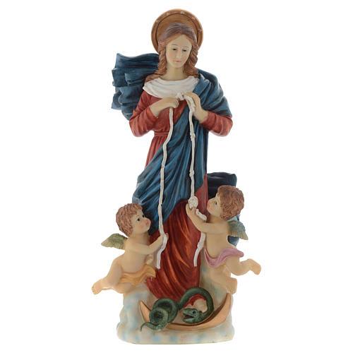 Statue Notre-Dame qui défait les noeuds 60 cm résine peinte 1