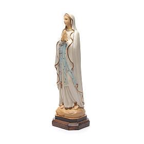 Statue Notre-Dame de Lourdes résine colorée 40 cm s2